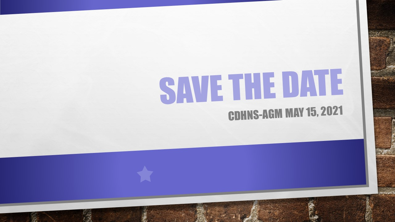 Save the dates AGM May 15 2021 Updated Aug 17 2020